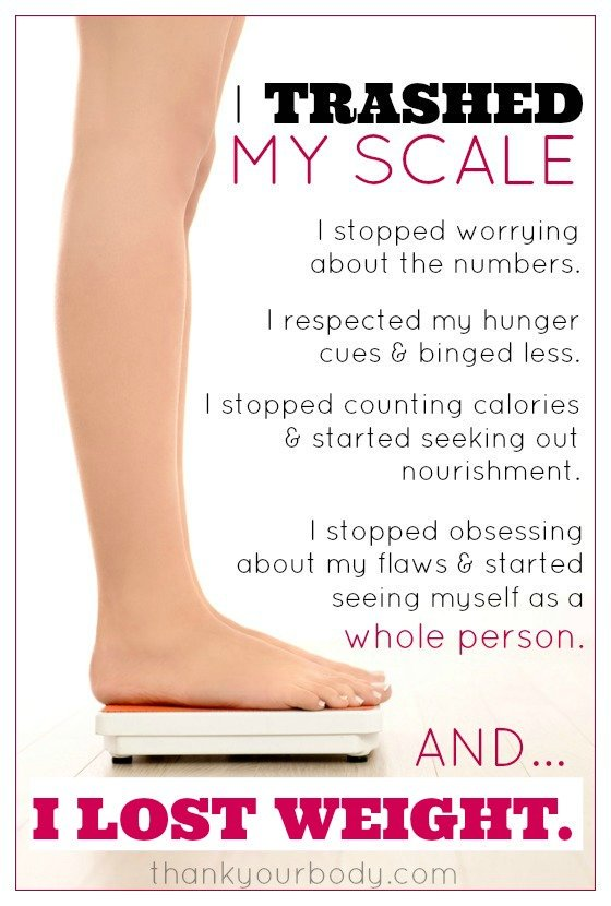 For those who want to lose weight, getting on a scale is habit. Learn why you might want to trash your scale.
