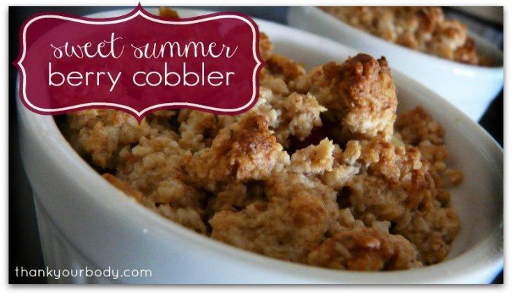 delicious sweet summer berry cobbler. Yessss.