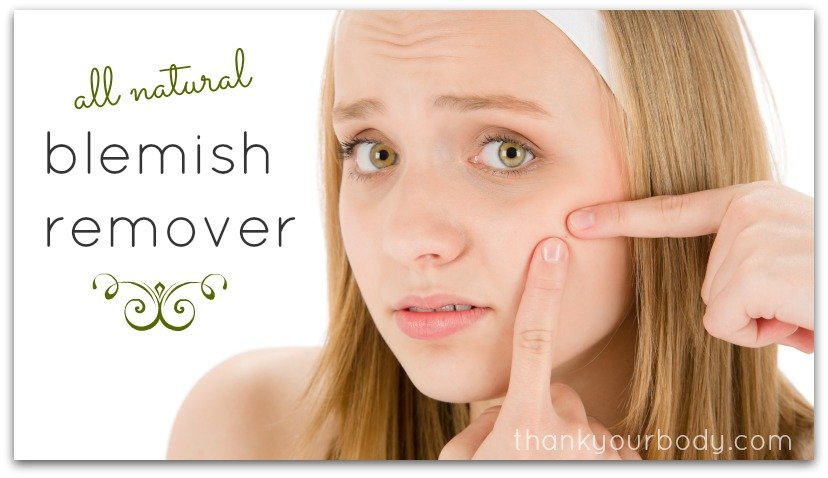 All natural blemish remover. So cool!