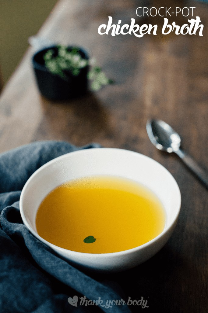 Crock-Pot Chicken Broth: The easiest homemade chicken broth ever!