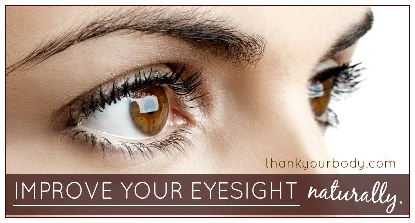 Learn how to improve your eyesight naturally in as little as five minutes a day. So cool! www.thankyourbody.com
