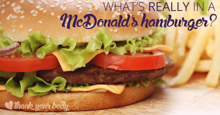 What's really in a McDonald's hamburger?