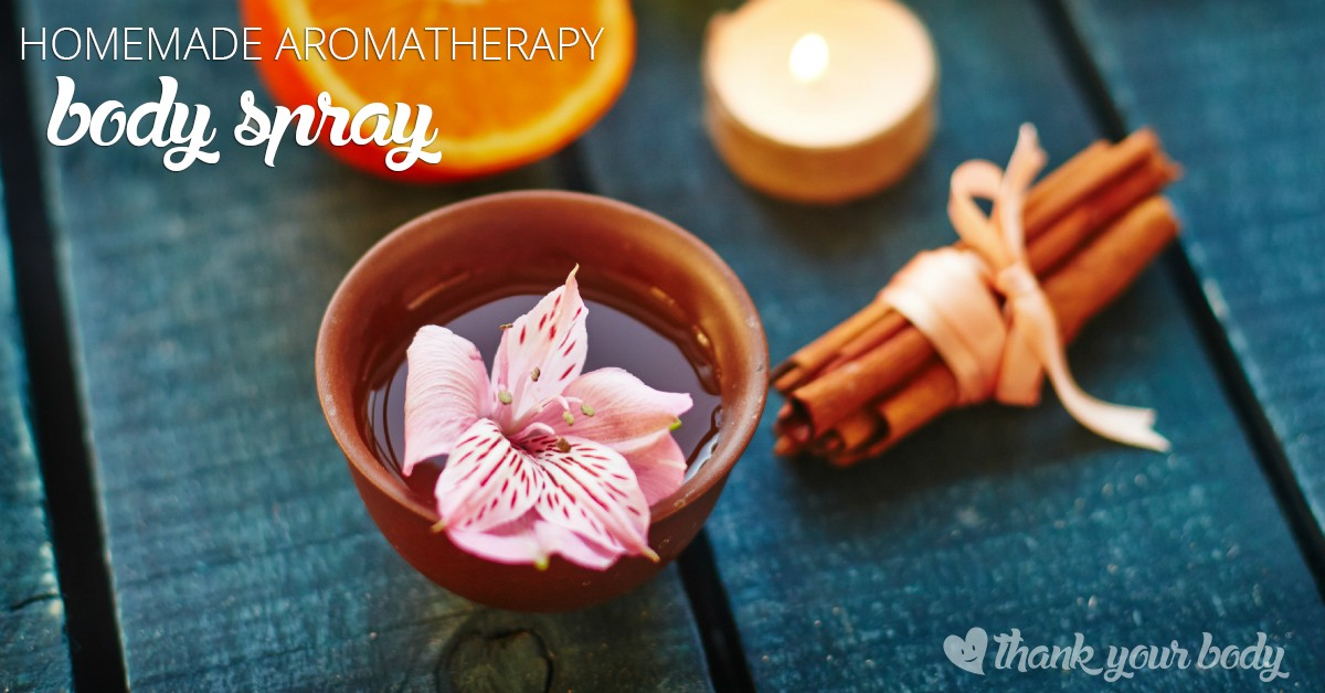 All natural body spray recipe: Aromatherapy at its best.
