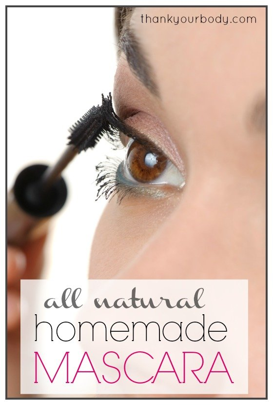 All natural homemade mascara recipe! So cool! Who knew you could make this yourself