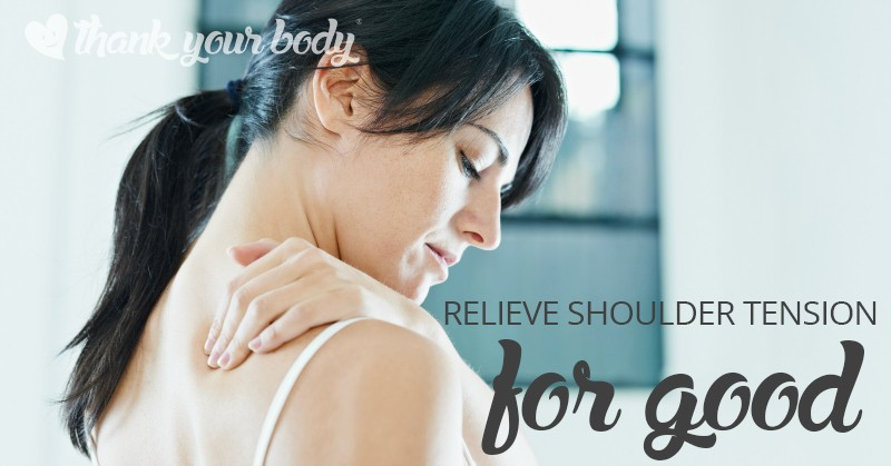 Many people deal with neck and shoulder tension. Learn a simple technique to help relieve and reduce shoulder tension and feel more relaxed throughout your day.