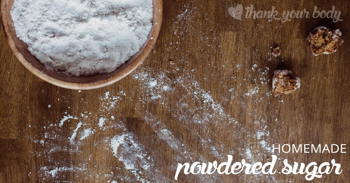Homemade powdered sugar is super easy to make, and if you choose a quality sweetener it's also a lot better for you. Learn how to make it!