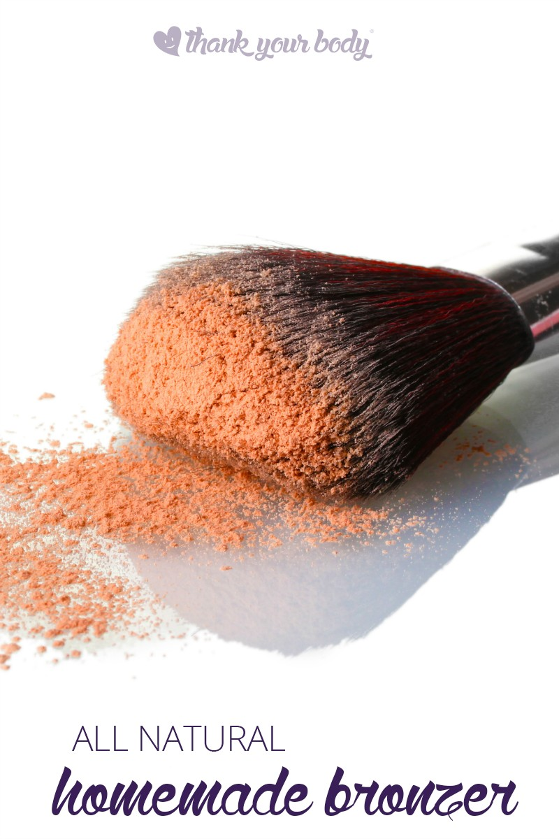 This homemade bronzer recipe is super easy. You probably have all the ingredients in your home right now. No toxic chemicals for a bright, beautiful face.