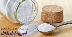 This all natural, homemade borax free dishwasher detergent is a great way to keep your dishes clean and non-toxic.