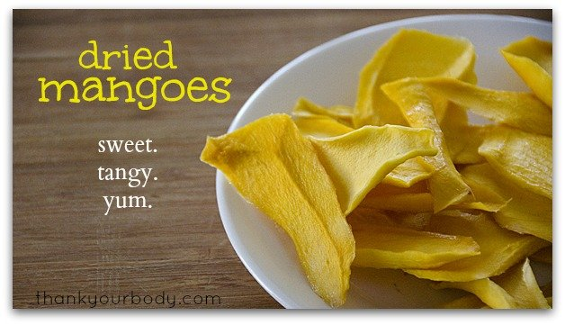 Recipe for dried mangoes. Sweet, tangy, and good for you!