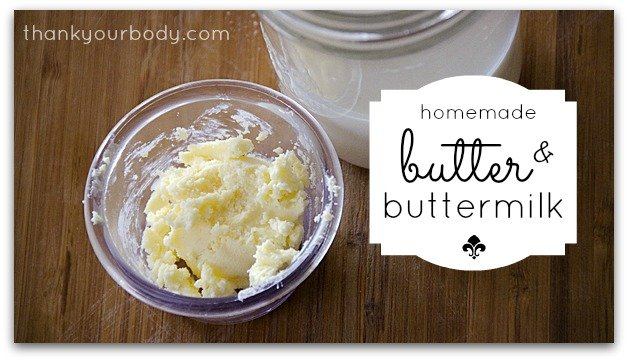 Making homemade butter is so simple!
