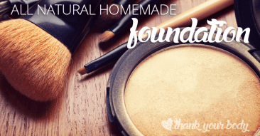 All Natural Homemade Foundation Powder: For a happy face.