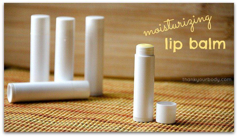All natural moisturizing lip balm - only 5 ingredients!