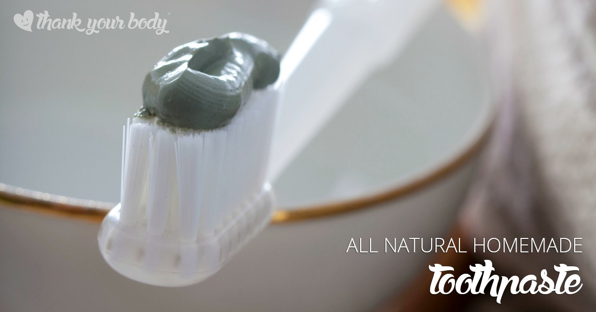 This all natural homemade toothpaste is so good for your teeth, mouth, and gums! Easy to make, too.