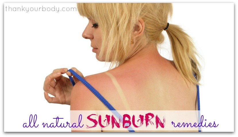 Super simple, but effective, all natural sunburn remedies. Good to know.