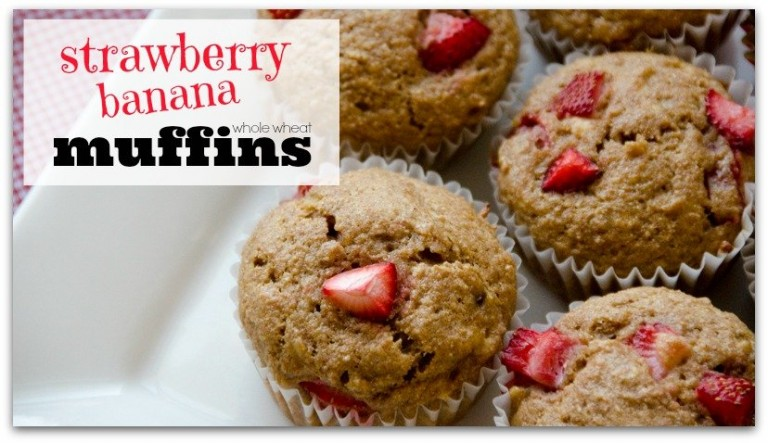 Strawberry Banana Muffins! Super yummy, easy, and freezable!
