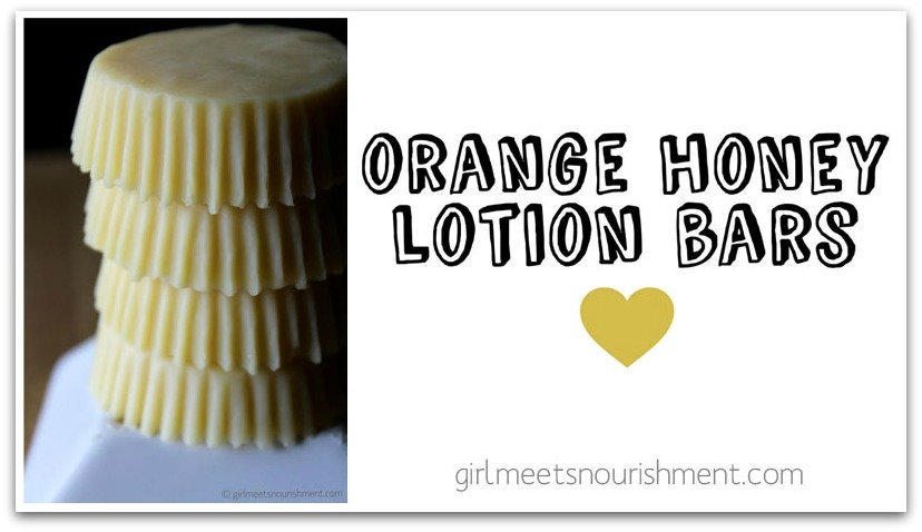 Orange Honey Lotion Bars