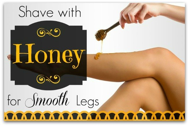 Shaving with honey for smooth legs