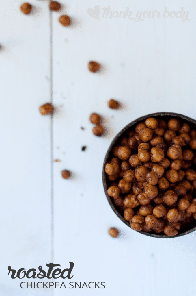 Healthy Roasted Chickpea Snacks in BBQ, Salt and Vinegar, and Chili-lime flavors.
