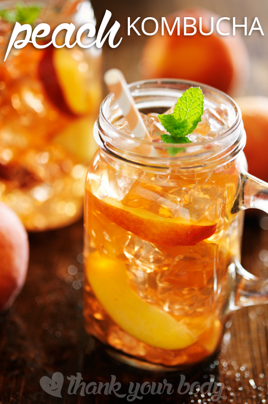 Peach Kombucha Tea Recipe from Thank Your Body