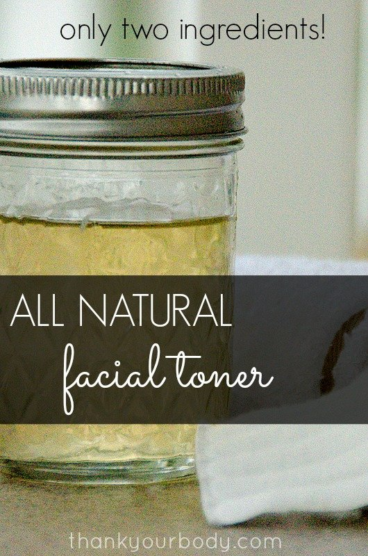 Super easy and all natural facial toner. Only two ingredients!