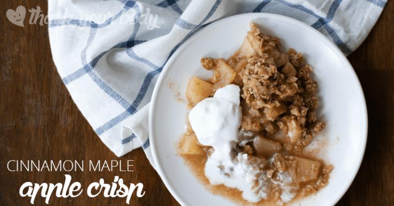 Recipe: Cinnamon Maple Apple Crisp