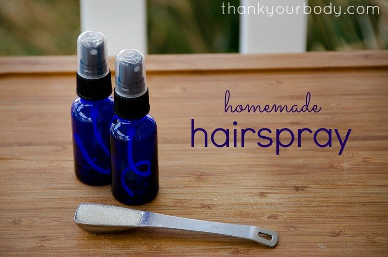 All Natural Homemade Hairspray