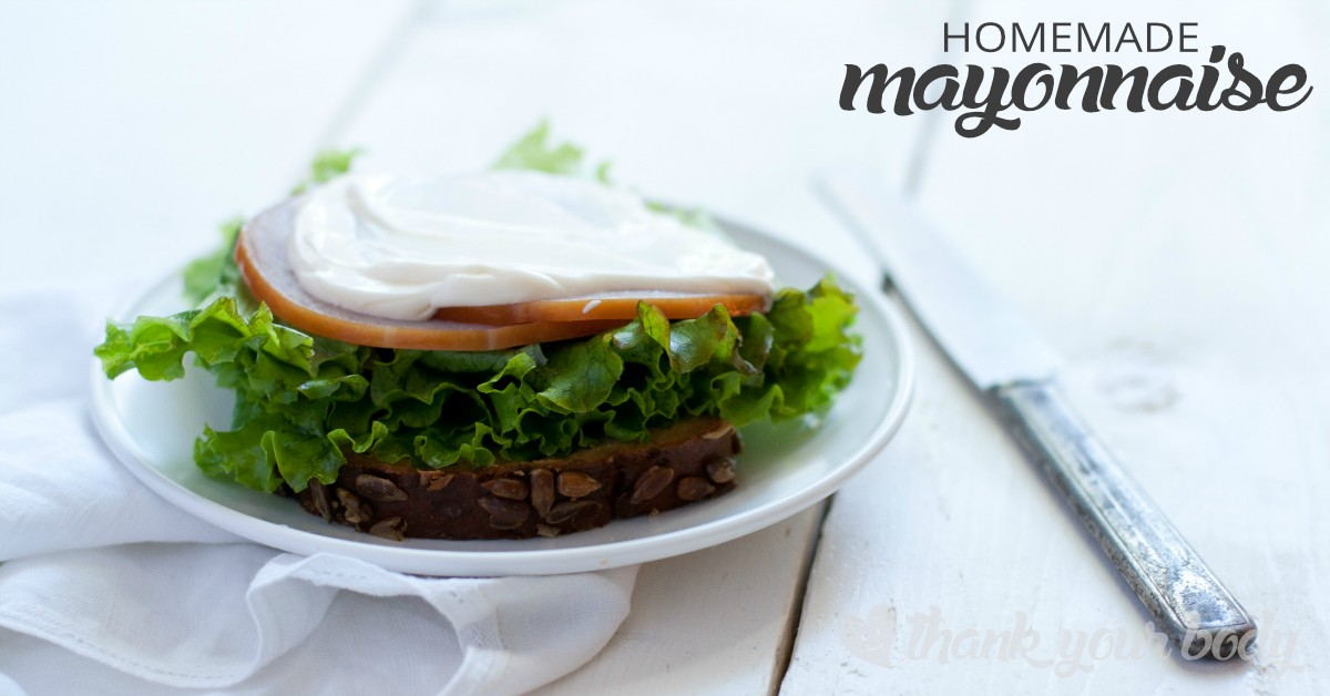 Homemade mayonnaise is surprisingly healthy, and so easy to make! Organic eggs, olive oil and apple cider vinegar make this mayo tasty and good for you.