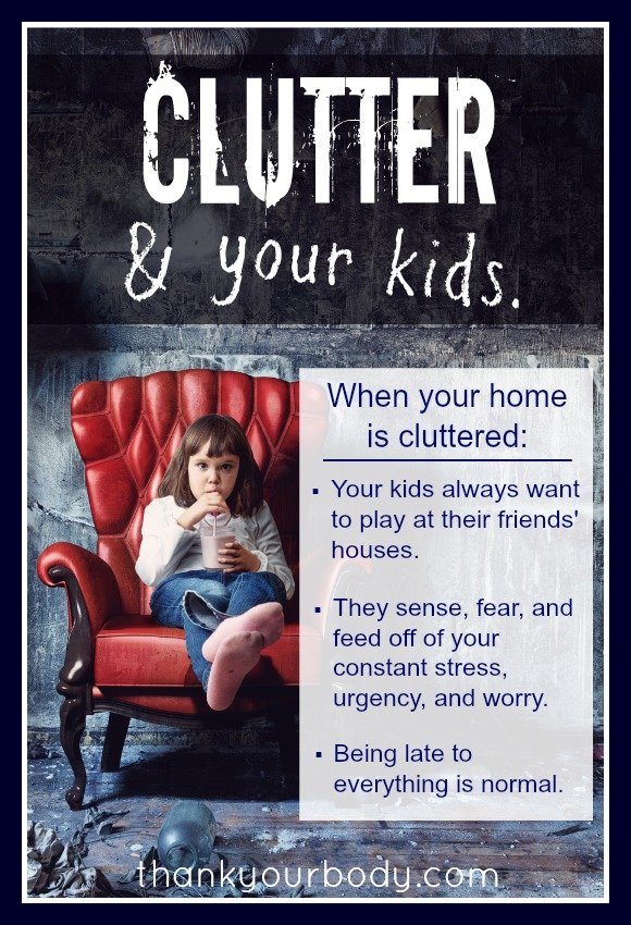 Ever wonder how clutter is viewed by your kids? A really interesting story about one person's experience with clutter. Read it!