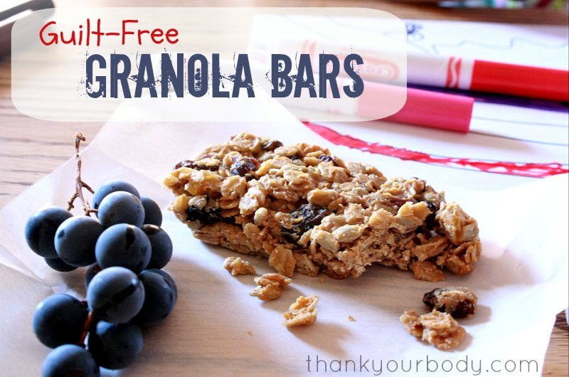 Try these chewy, guilt-free granola bars! Gluten free, additive free, and delicious!