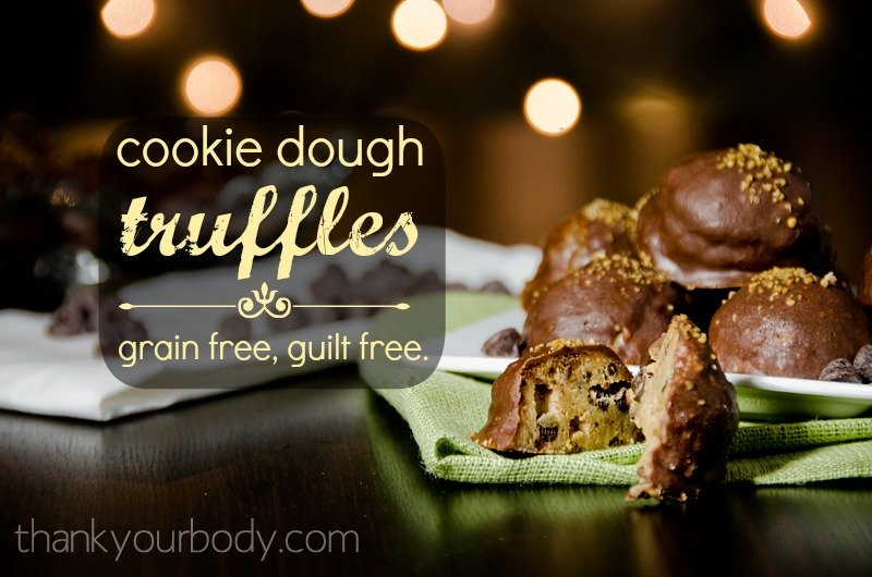 No holiday guilt here: Grain free cookie dough truffles. Um, yes please!