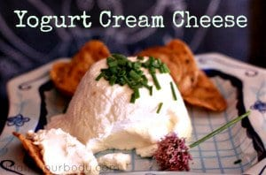 Make your own delicious cream cheese using healthy yogurt!