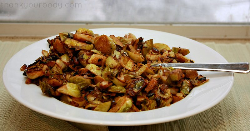 Savory Brussels Sprouts with pine nuts and cream...a side dish to dress up any meal!