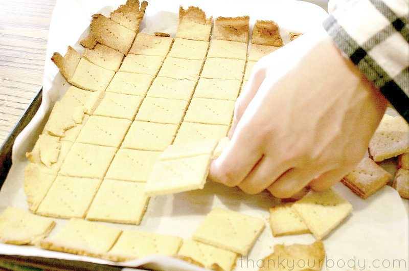 Gluten free baked Parmesan crackers...perfect for appetizers and fun to snack on!
