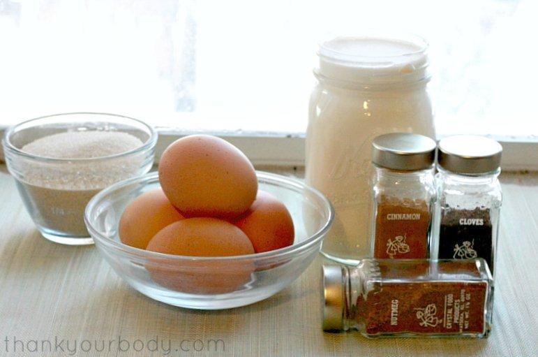 Rich, creamy holiday eggnog!