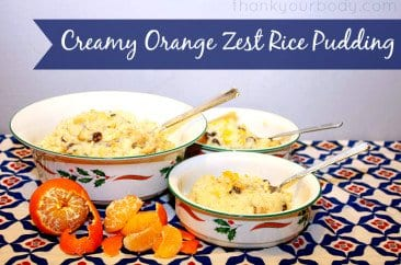 Recipe: Creamy Orange Zest Rice Pudding