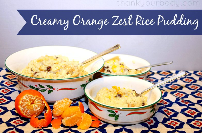 Rich and creamy orange zest rice pudding, on the stove top or in the slow cooker!
