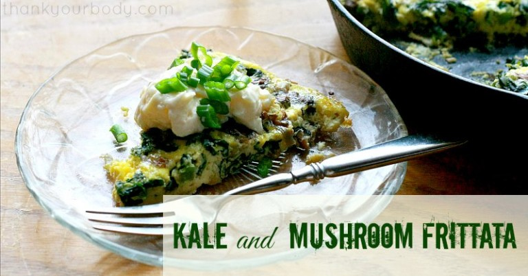 Need a new take on eggs? Try this Kale and Mushroom Frittata...fast, healthy, and delicious!