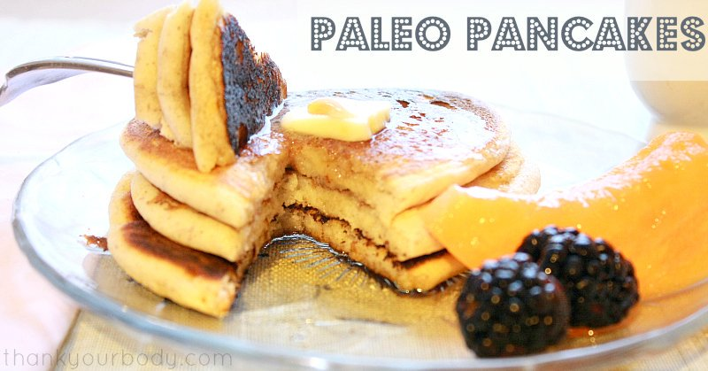 Easy Paleo Pancakes...grain free never baked up so light and fluffy, thanks to a few easy tweaks to this pancake recipe!