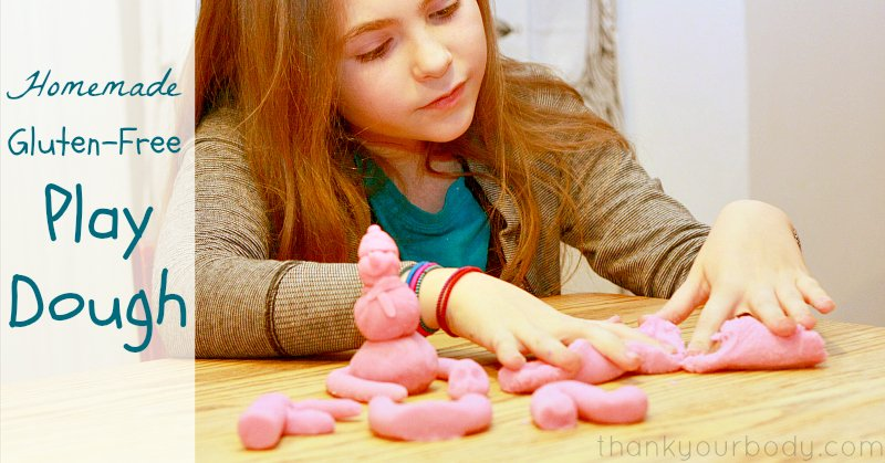 Just three simple, natural ingredients in this safe, gluten-free play dough!