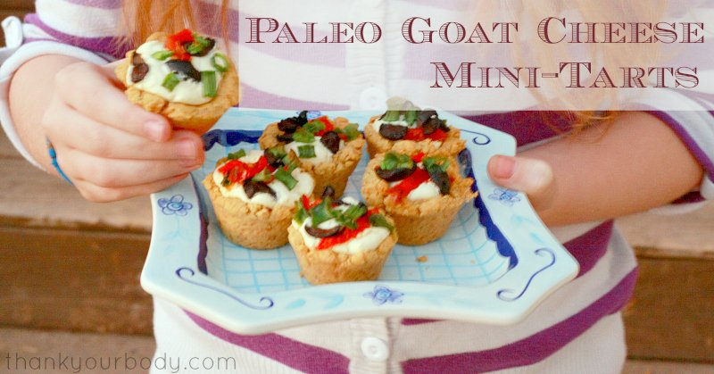 These Paleo goat cheese mini tarts are as pretty as they are tasty!