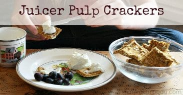 Recipe: Juicer Pulp Crackers