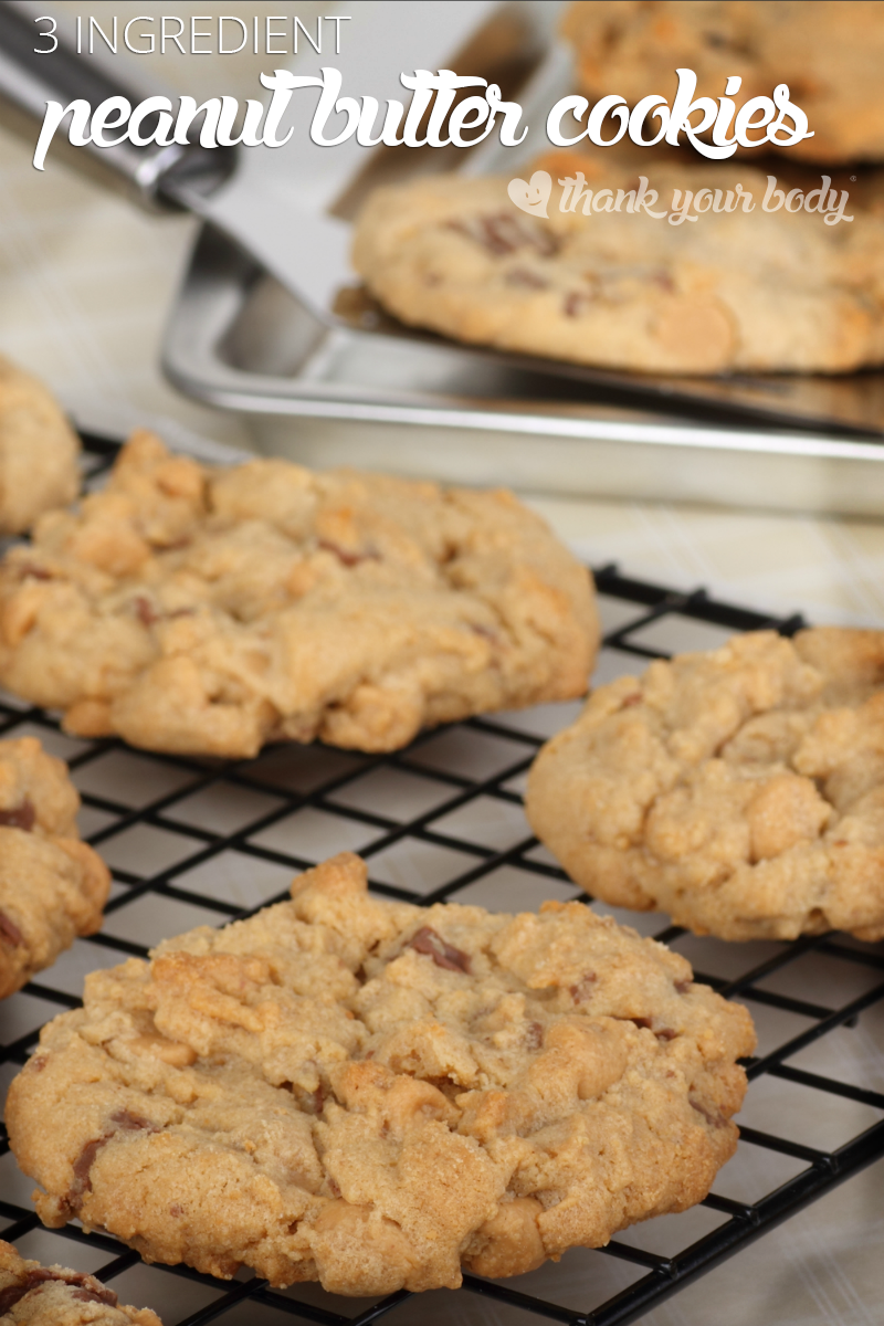 3 Ingredient Peanut Butter Cookies As Tasty They Are Easy And Naturally Grain