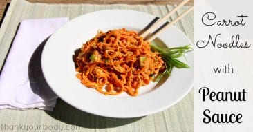 Recipe: Carrot Noodles with Peanut Sauce
