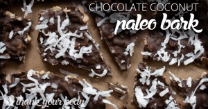 This chocolate coconut paleo bark is sooo good. Full of protein so eat up!