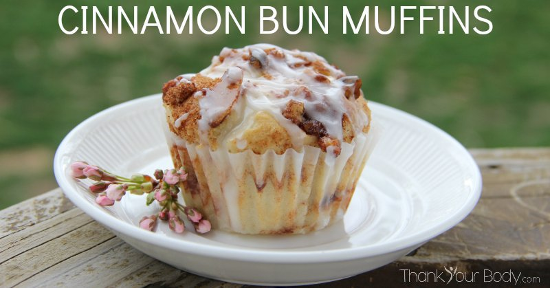 Gluten free cinnamon bun goodness, in a muffin-sized package!