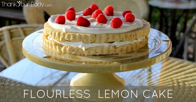 Fresh Meyer lemons and almond flour make this cake flavorful, grain free and so tasty!