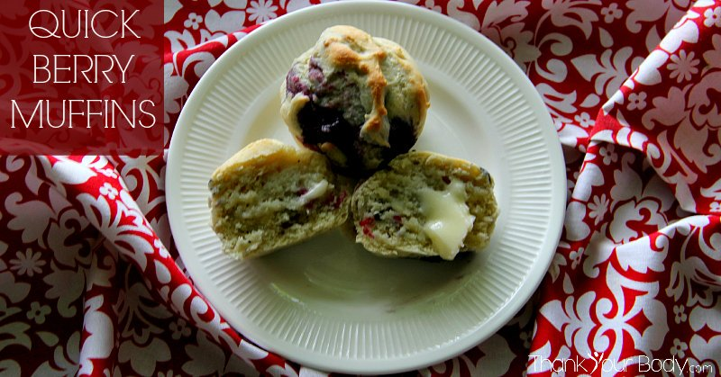 Try these quick berry muffins! You can make the mix ahead of time...convenient and healthy!