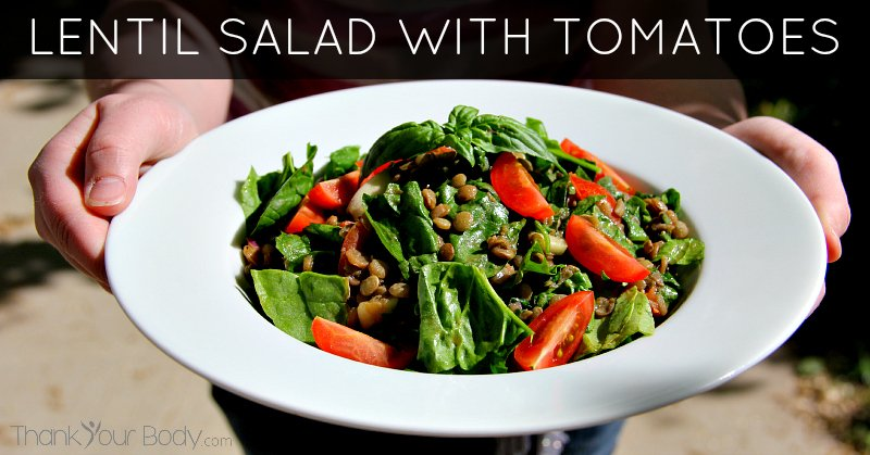 This delicious salad is packed with protein, fiber and flavor. Three cheers for lentils!