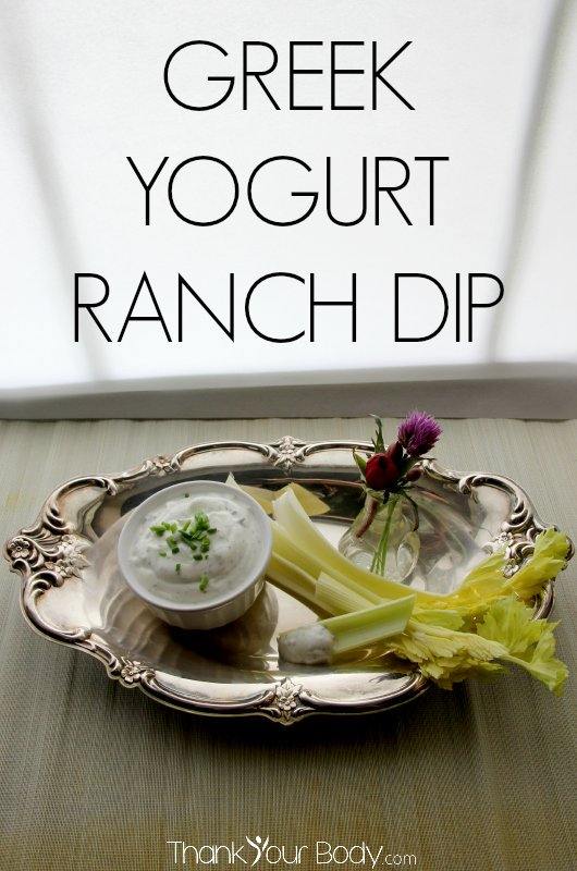 Try this savory ranch dip made with organic Greek yogurt!