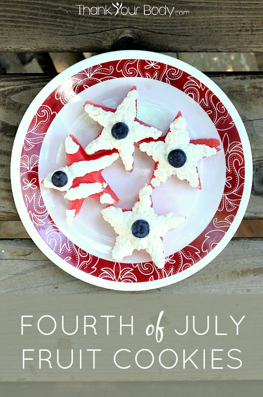 These cookies are a healthy but cute addition to your Fourth-of-July celebration!